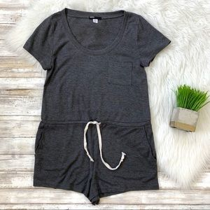 Urban Outfitters Drawstring Scoop Neck Romper